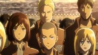 Conny and the new Scout Regiment members meet Eren