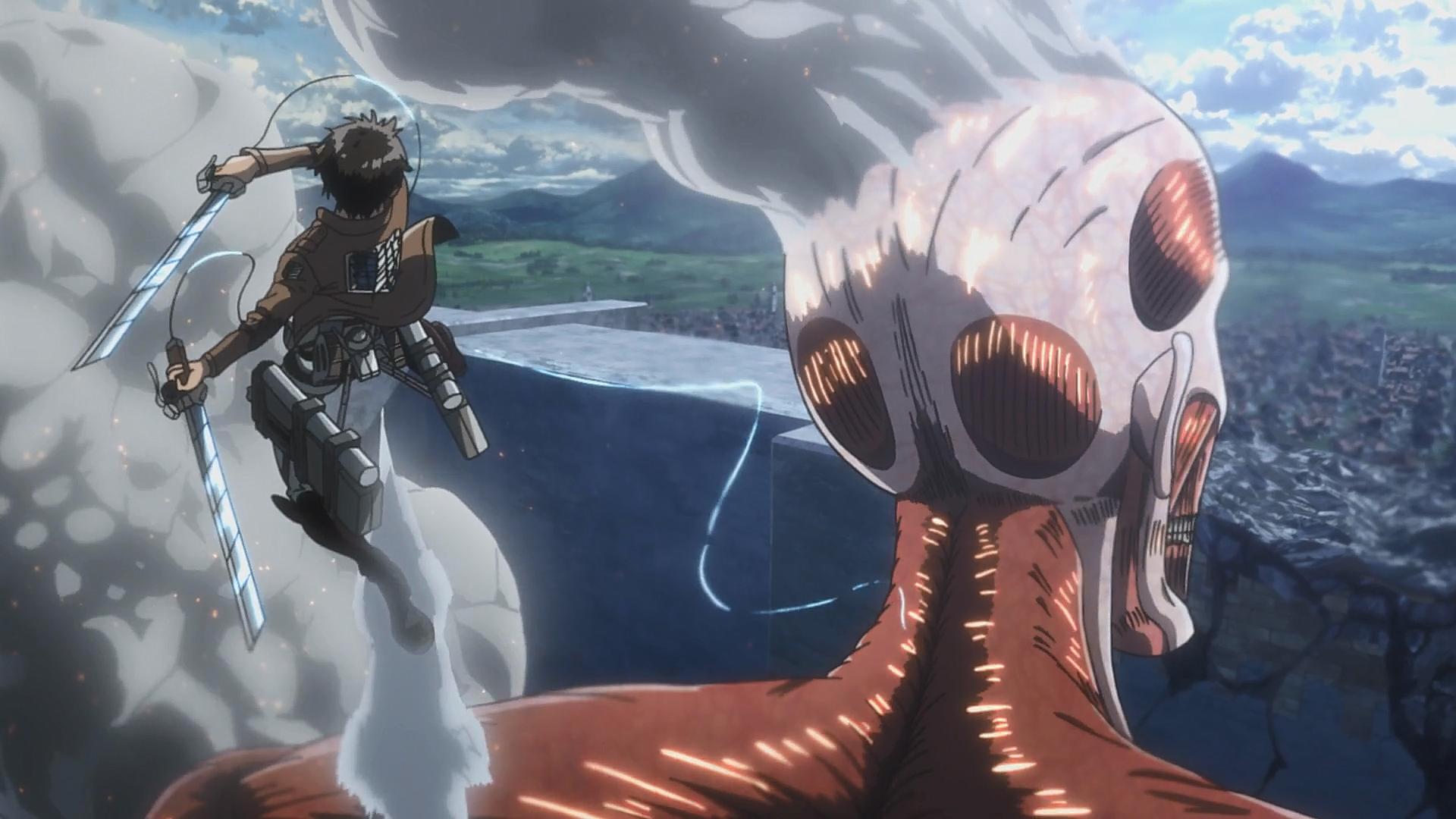 Colossal Titan Anime Image Gallery Attack On Titan Wiki Fandom
