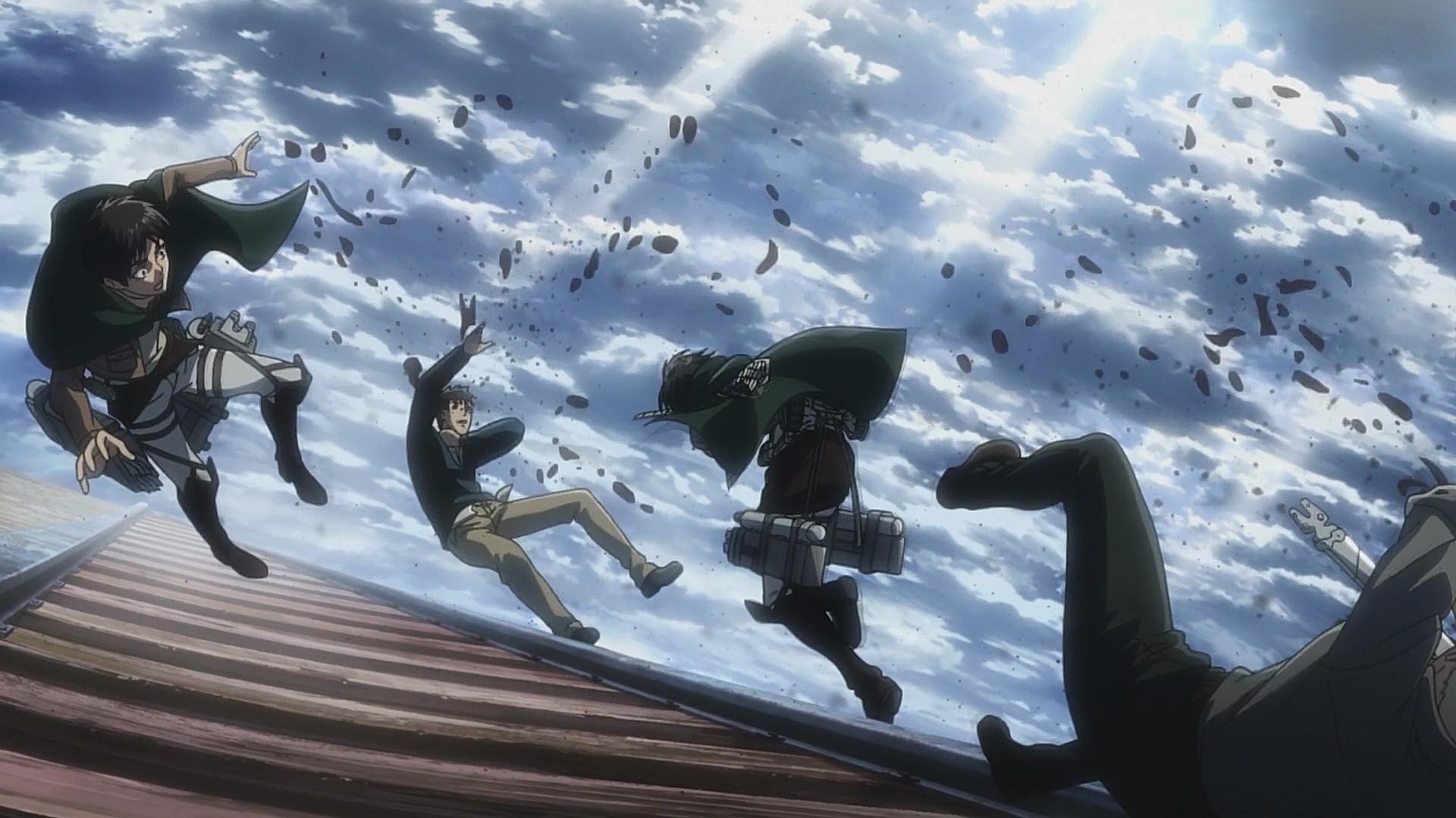 Mikasa greift Berthold und Reiner an.jpg