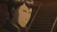 Bertholdt listens to Armin's plan