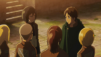 Eren reunites with his friends