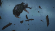 Levi is blown away by the explosion