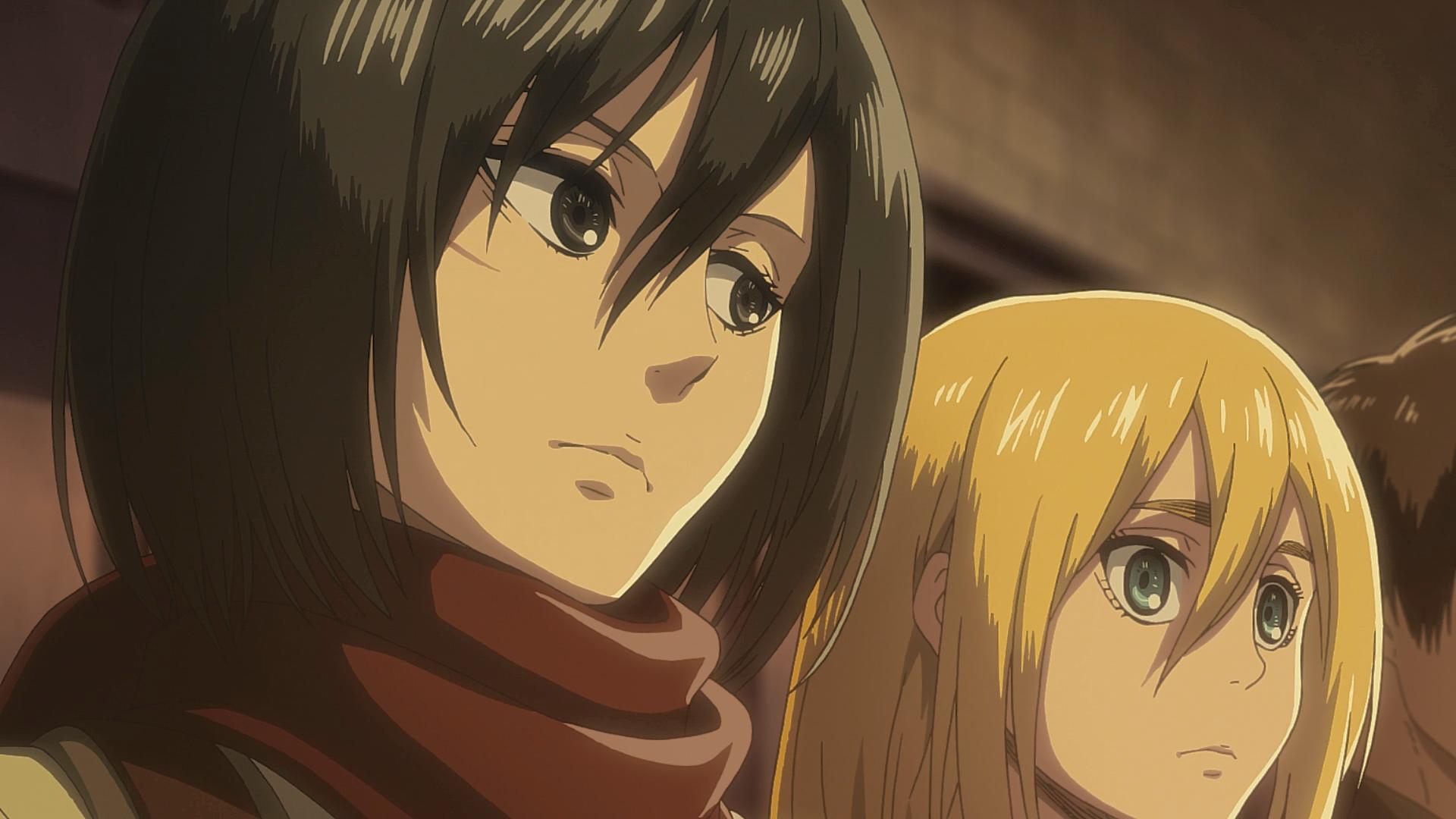 Mikasa sagt Historia, dass sie Levi schlagen soll.png