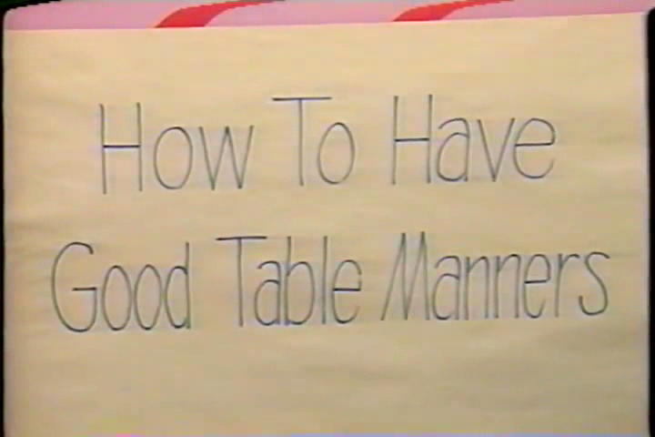 How to Have Good Table Manners