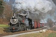 Strasburg Railroad Steam Doubleheader-Railroad Poster