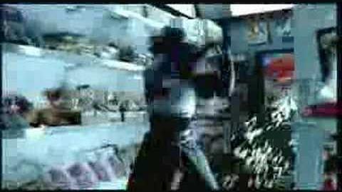 A commercial for Shinobi 2002, featuring Hotsuma's scarf.