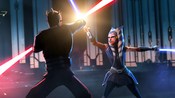 Ahsoka and Maul duel