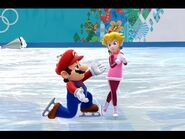 Mario and Peach at the Sochi 2014 Olympic Winter Games; Figure Skating