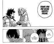 TodoDeku (Shoto scratches his face after Fuyumi thanked Izuku for his friend)