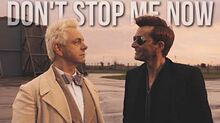 Crowley & Aziraphale -- Don't Stop Me Now -- Good Omens