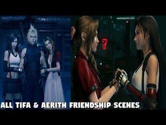 Final Fantasy 7 REMAKE - ALL Tifa & Aerith Friendship scenes