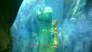 FFXIII-2 Serah holding Snow as he Disappears