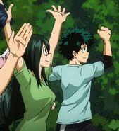 Midotsuyu training together