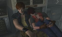 Cleve - Steve and Claire resting on the floor of the plane.jpg
