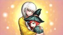 Danganronpa_V3_Killing_Harmony_Angie_hugs_Himiko