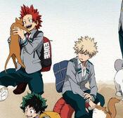 KiriBaku with cats