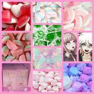 Chiaki x nagito candycore aesthetic