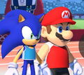 Sonic and Mario at the 2020 Tokyo Games