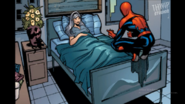 Spidey visits Felicia at the hospital