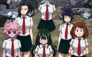 Mha girl power standing in a circle