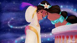Aladdin kiss by illustrationsbydil.jpg
