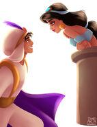Aladdin and Jasmine by archibaldart