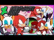 Knuckles and Rouge VS DeviantArt (FT Tails)