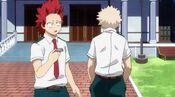 Bakugou paying back Kirishima
