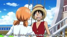 Luffy is disappointed in Nami