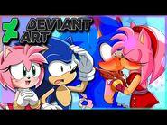 Sonic and Amy VS DeviantArt