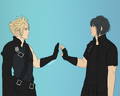 Cloud and Noctis by hey-heichou-suz.png