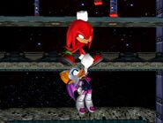 SonicAdventure2 Knuckles saving Rouge
