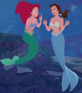Mermaid Ariel and Belle by mostlydisneyfemslash
