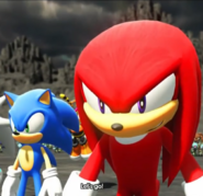 Knuckles and Sonic get ready to fight - Sonic Forces