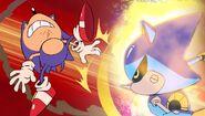 SonicManiaAdventures Metal slashes Sonic
