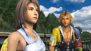 Tidus and Yuna in Luca