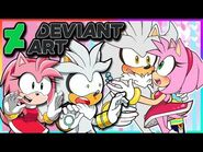 Silver and Amy VS DeviantArt - IT'S NO USE!!!!!! (FT Tails)