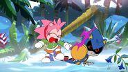 SonicManiaAdventures Amy hits Metal Sonic