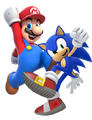Mario and Sonic by Banjo2015