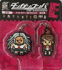 FuRyu Minna no Kuji Dot Rubber Mascots Asahina Aoi and Sakura Ogami