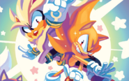 Super Sonic and Super Silver IDW Issue 31 (Art by Nathalie Fourdraine)