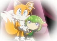SonicX Tails&Cosmo holding hands 2