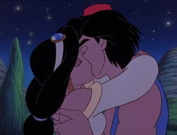 Aladdin and Jasmine Kiss - The Return of Jafar.png