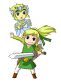 Roleswap Zelda and Prince Link - Spirit Tracks 1 by MLPRainbow10