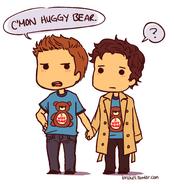 Supernatural - Destiel Huggy Bear (brakes)