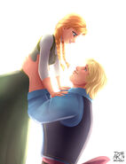 Anna and Kristoff by archibaldart