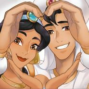 Jasmine and Aladdin by romancemedia