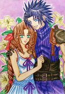 Crisis Core FFVII; Zack x Aerith manga style by dagga19