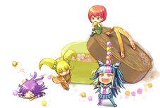 Mahiru, Hiyoko, Ibuki and Mikan Fan Art by 小島洋