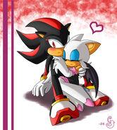 Shadow X Rouge cuddling